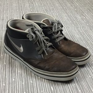 Nike 6.0 Blazen Black Grey Leather Chukka Sneakers